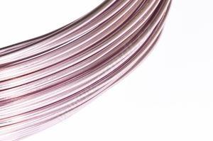 Dekorační drát hliníkový - pastelově růžový