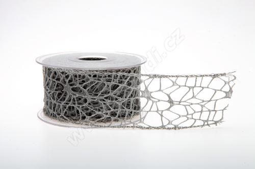 Dekorativní stuha Big spider 5cm x 9,1m ŠEDÁ