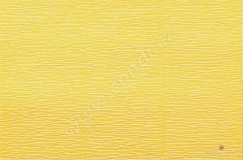 Krepový papír 180g role 50cm x 2,5m - žlutý 578