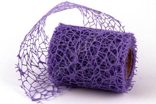Dekorativní tkanina Big spider 10cm x 4,6m 25 LILA
