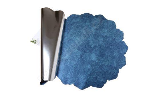 Floristická ronda 50cm metal modrá mramor 1/2 50ks