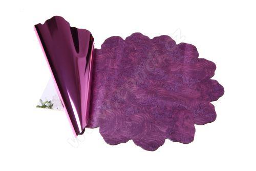 Floristická ronda 40cm metal fialová mramor 1/2 50ks
