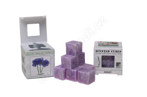 Vonný vosk do aromalamp Scented cubes - violet