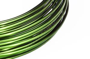 Dekorační drát hliníkový - olivově zelený