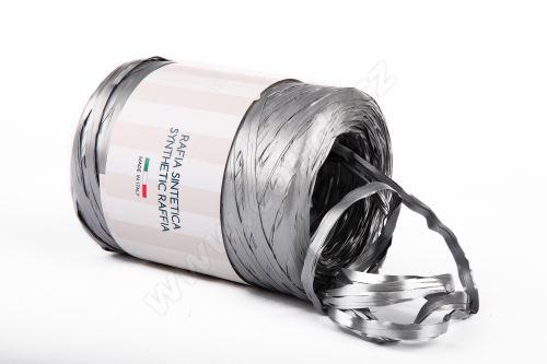 Stuha rafie matná 6802 5mm x 200m - 44 stříbrná metalická