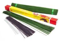 Floristický vázací drát na gerbery zelený -  O 0,7 mm